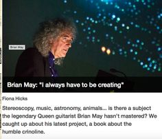 Reader's Digest on Brian May's creative world and the launch of Crinoline (click image to read full article).