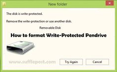 How to format USB Drive Write Protected for Window 7,8 and 10