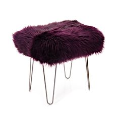 Aubergine Sheepskin Hairpin Stool - Options Available — Berrys and Grey