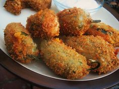 My husband loves jalapeno poppers, but I refrain from spicy foods. A number of writers have posted recipes that are hot in nature, so I thought you would enjoy these jalapeno poppers. These are great party appetizers. Finger Food Appetizers, Vegan Appetizers, Appetizer Recipes, Finger Foods, Appetizer Ideas, Party Appetizers, Vegan Snacks, Party Snacks, Vegan Food