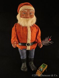 Antique German Woodcutter Santa Claus Candy Container, circa 1910 by EbenezerandCompany on Etsy