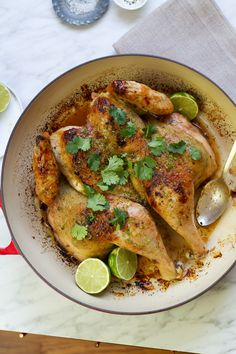 Roasted Cilantro Chile Lime Spatchcock Chicken | aidamollenkamp.com | #pairswellwithfood
