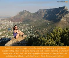 Cape Town intern, Kiera, shares her thoughts on what makes the experience stand out among the rest. From Beginning To End, Once In A Lifetime, Volunteers, Cape Town, Good People, Falling In Love, Grand Canyon, Connection, Rest