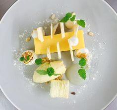 George Dack @ChefDack Lemon meringue pie with pine nut ice cream SEPT/OCT