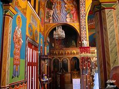 Icons Interior And Exterior, Fairy Tales, Cathedral, Greek, Around The Worlds, Architecture, Painting, Faith, Decor