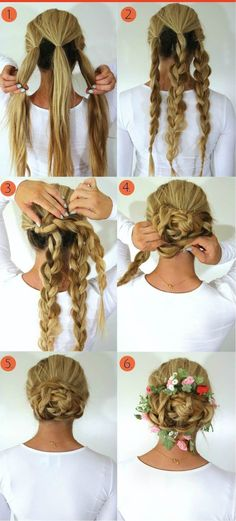 Side Braided Bun Hairstyle Tutorial