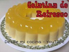 GELATINA DE REFRESCO Y CREMA, Receta # 184, Gelatina facil - YouTube