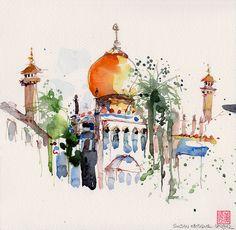 Sultan Mosque @ Kampong Glam by PaulArtSG,