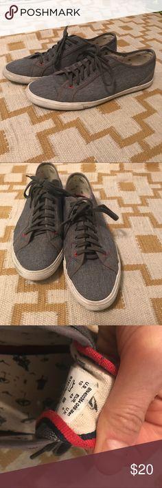 Ben Sherman grey low top sneakers Size 10 Ben Sherman men's grey slip-on cloth sneakers low top style Ben Sherman Shoes Sneakers