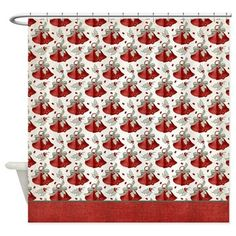 Christmas Holiday Bells Shower Curtain D7