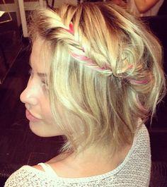 Gorgeous braid for short hair.