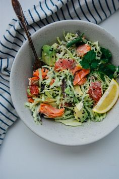 Pan-roasted salmon with citrus cabbage salad {New Year Reset Day 22} #recipes #food #drink #cuisine #boissons #recettes