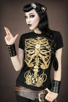 SKELETON BLACK T-SHIRT
