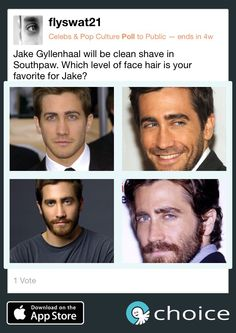 With Southpaw's release, make a #choice for the best Jake Gyllanhaal facial hair! www.choiceapp.co
