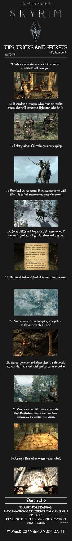 Skyrim - Tips, Tricks and Secrets! {Part 3}