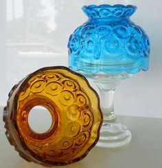 Vintage L E Smith Blue Moon and Star Candle by BlueHouseVintage, $38.00