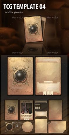 Buy TCG Template 04 by a-ravlik on GraphicRiver. Cards design for TCG. Game Card Design, Board Game Design, Pinterest Cards, Card Ui, Game Gui, Game Interface, Web Design, Game Concept Art, Game Assets