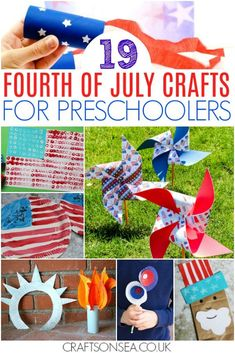 fourth of july crafts for preschoolers patriotic red white and blue art projects Preschool Crafts, Preschool Activities, Fun Crafts, Arts And Crafts, Summer Activities, Fourth Of July Crafts For Kids, 4th Of July Party, July 4th, Easy Art Projects