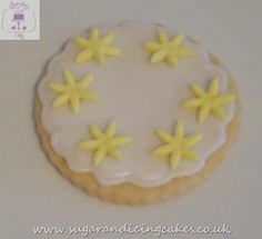 yellow daisy biscuit Biscuits by Sugar and Icing Cakes Birmingham: Image