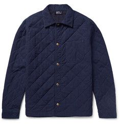 A.P.C. - Cole Quilted Denim Overshirt
