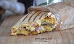 Tacos cordon bleu sauce gruyère au curry Tacos cordon bleu sauce gruyère au curry,selem/Bonjour Allez mes amis encore une idée pour vos sandwichs!!Voilà un délicieux tacos cordon bleu,un sandwich avec des galettes durum,de la viande et des frites maison!vous être nombreux à être fans du célèbre tacos Lyonnais au poulet,voici une variante avec cordon bleuRead More