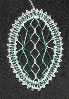 velikonoční ozdoba - vajíčko Lacemaking, Lace Heart, Lace Jewelry, Bobbin Lace, Lace Detail, Butterfly, Easter, Knitting, Slipper