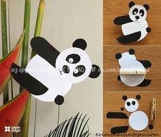 Panda pince à linge