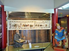 Unveilling of Alderney's Tapestry Finale in the Museum of Bayeux July 2014