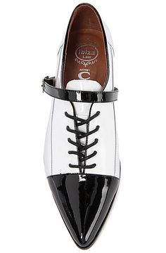 The Look Sharp Shoe in Black, White and Silver - Jeffrey Campbell
