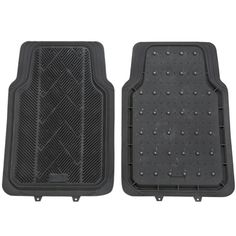 Universal Auto Floor and Traction Mats (Set of two)  -$37.95- Really Handy. Metal studs give you needed traction These protective all weather Universal Floor/Traction Car Mats have a dual purpose. They protect the carpet of your vehicle with their deeply carved channels to trap water, salt, dirt and sand. Flip them over and they're embedded with metal studs—if you're stuck in the snow or mud, simply place them under your tires with the studded side down.