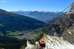 Leukerbad. View from the Gemmi looking down on Leukerbad (photo via Offizielle Leukerbad Fanseite)