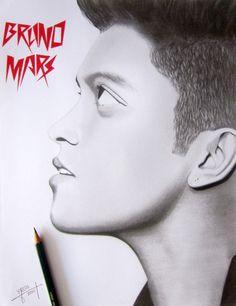 Retrato a lápiz / Bruno Mars por yrgamboag - Retratos | Dibujando.net