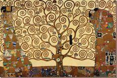 生命の樹(The Tree of Life、ストックレー・フリーズ) キャンバスプリント