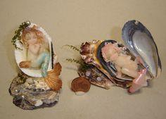 Sleeping mermaids - cold porcelain (La Bottega delle Fate)