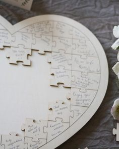 heart puzzles creative wedding guest book