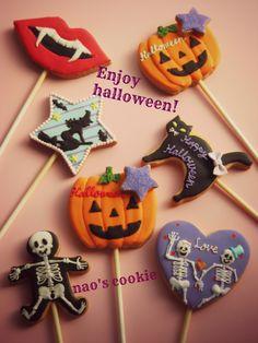 Halloween pop cookies
