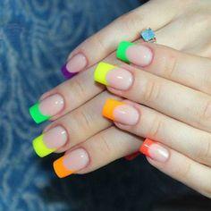 Magic Nails, Nail Art, Rainbow Nails, Fall Nail Colors, Makati, Summer Nails, Hair Beauty, Make Up, Finger Nails