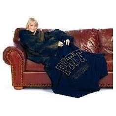"Pittsburgh Panthers NCAA Adult ""Smoke"" Comfy Throw Blanket w/ Sleeves"