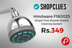Shopclues #DealofTheDay is offering 45% off on Hindware F160025 Single Flow Shower Rubbit Cleaning System Just at Rs.349.   http://www.paisebachaoindia.com/hindware-f160025-single-flow-shower-rubbit-cleaning-system-just-at-rs-349-shopclues/