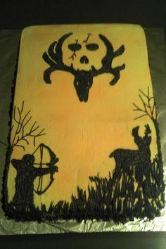 Bow Hunter bone collector cake idea. I can make this!