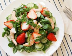 苺のピクルスと海老の・・春サラダ♪