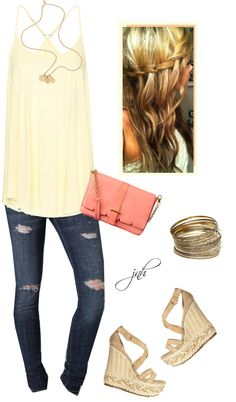 Minus the heels cause, les be honest, me & heels just don't mix. Gimme some fancy flip-flops & I'm golden. lemonade twist, created by jill-hammel on Polyvore