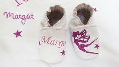 une jolie couverture personnalisée pour margot ainsi que de joli chaussons en cuir http://www.ninaetnino.fr