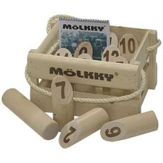Mölkky Outdoor Game by yardgames.us. Save 8 Off!. $59.95. Mölkky is a Finnish lawn tossing game that is sweeping the nation!  This yard game provides hours of fun for the whole family.  Perfect to take camping, tailgating, or just out in the yard.  Our Mölkky set is made of solid kiln-dried hardwood.  Mölkky is a unique game involving strategy and skill.  This outdoor game can be enjoyed by both young and old.  Toss the throwing dowel underhand and knock over the skittles.  To...