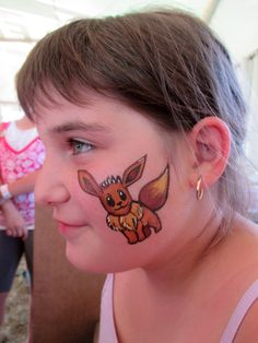 pokemon face painting - eevee