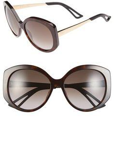 Dior 'Extase 1' 58mm Oversized Sunglasses