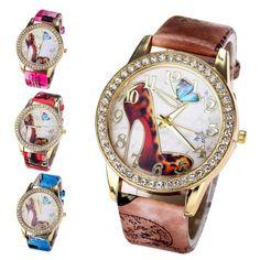 Crystal High Heel Watch