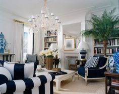Christie commenting here---I like the Chinoiserie accents to go with the blue theme Ralph Lauren