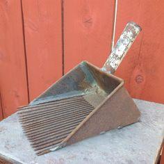 Vintage Metal Cranberry Scoop Rustic by RetroResaleSanDiego