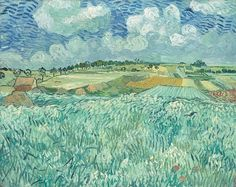 Винсент ван Гог.  «Поля в Овере»  1890.